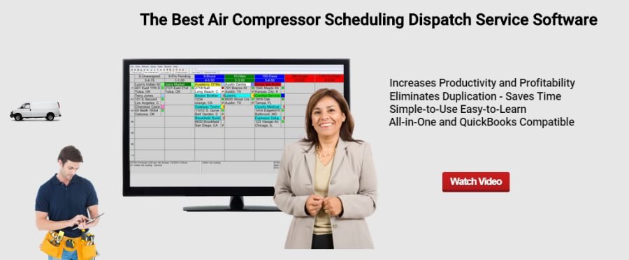 Air Compressor Scheduling Dispatch Service Software