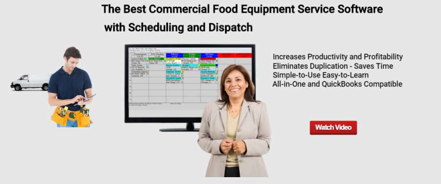 Commercial Food Equipment Service Dispatch Software